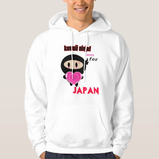 Kawaii Ninja cares for Japan Hoodie