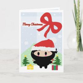 Kawaii Ninja Christmas Card card