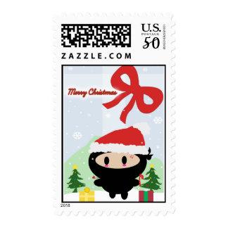 Kawaii Ninja Christmas Postage