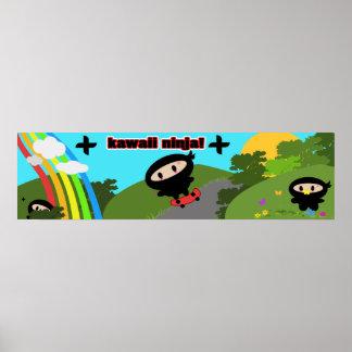 Kawaii Ninja rectangular print