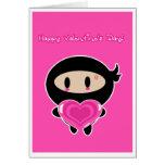 Kawaii Ninja Valentine's Day Card