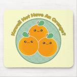 ¿Kawaii no comer un naranja? Tapete De Raton