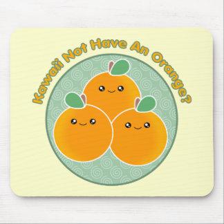 ¿Kawaii no comer un naranja Tapete De Raton
