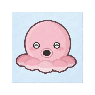 Kawaii Octopus Canvas Print