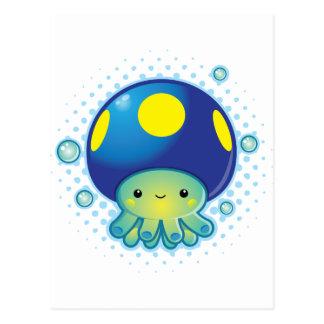 Kawaii Octopus Mushroom Postcard