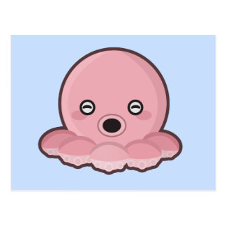 Kawaii Octopus Postcard