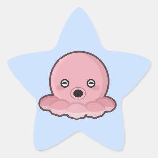Kawaii Octopus Star Sticker