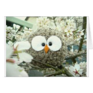 Kawaii Oliver the Owl Card