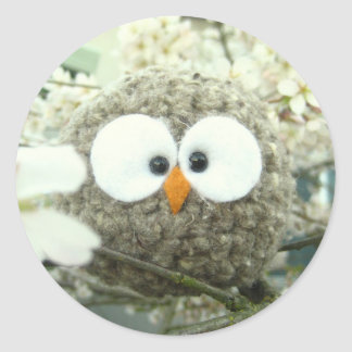 Kawaii Oliver the Owl Classic Round Sticker