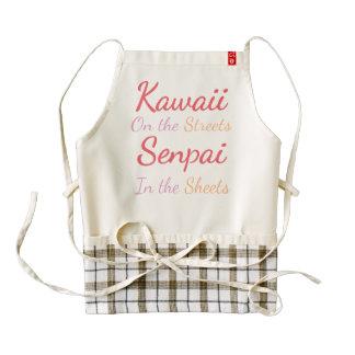 Kawaii on the Streets Senpai in the sheets Zazzle HEART Apron