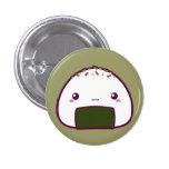 Kawaii Onigiri 1 Inch Round Button
