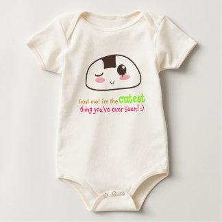 kawaii Onigiri {customisable} Baby Bodysuit