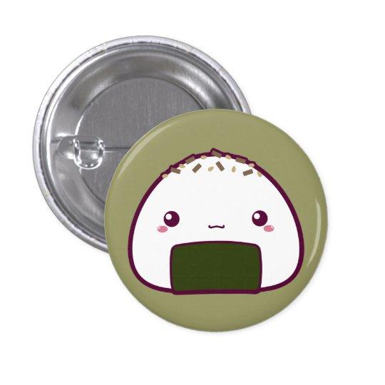 Kawaii Onigiri Pinback Button