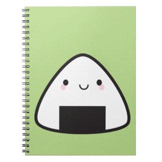 Kawaii Onigiri Rice Ball Spiral Notebook