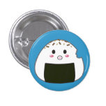 "Kawaii ""Onigiri"" Rice Ball with Bitemark Pins"