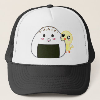 "Kawaii ""Onigiri"" Rice Ball with Ejiki the Chick Trucker Hat"