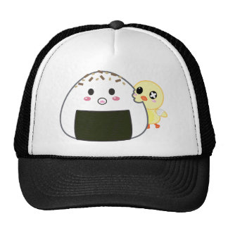 "Kawaii ""Onigiri"" Rice Ball with Ejiki the Chick Trucker Hat"