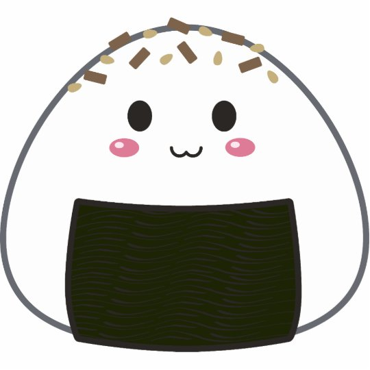 Kawaii Quot Onigiri Quot Rice Ball With Toppings Statuette