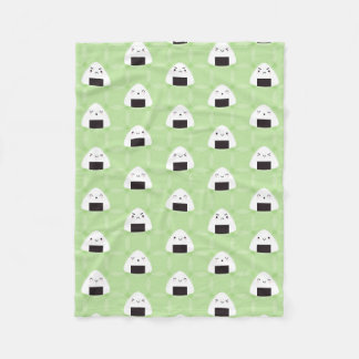 Kawaii Onigiri Rice Balls Fleece Blanket