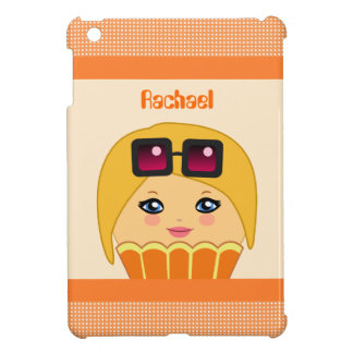 Kawaii Orange and Yellow Cute Cupcake Character iPad Mini Cases