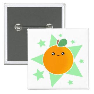Kawaii Orange Fruit Button