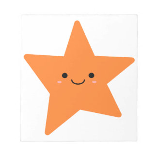 Kawaii Orange Star Notepad