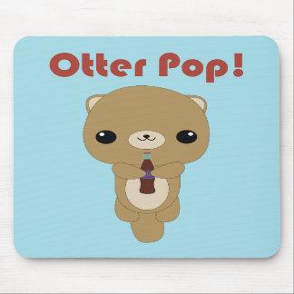Kawaii Otter Soda Pop mouse pad