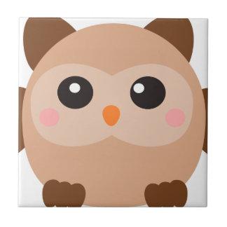 Kawaii Owl Ceramic Tile