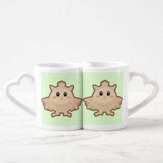 Kawaii Owl Coffee Mug Set