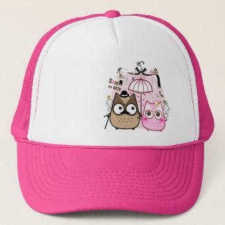 Kawaii owl couple trucker hat