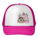 Kawaii owl couple trucker hats