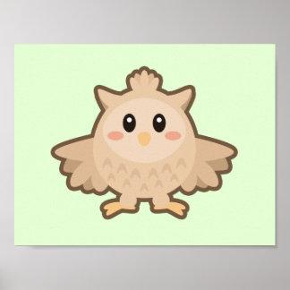 Kawaii Owl Poster