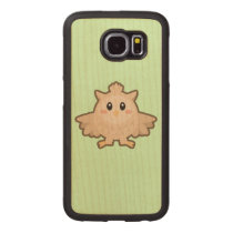 Kawaii Owl Wood Phone Case
