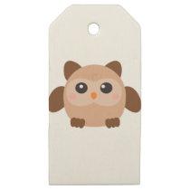 Kawaii Owl Wooden Gift Tags