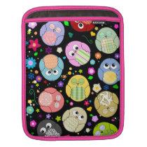 Kawaii Owls and Flowers Design Sleeve For iPads
