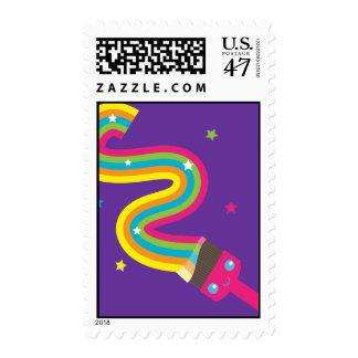Kawaii Paint Brush Postage Stamp