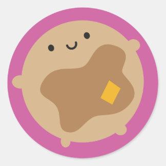 Kawaii Pancake Classic Round Sticker