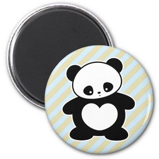 Kawaii panda 2 inch round magnet