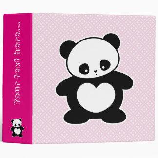 Kawaii panda 3 ring binder