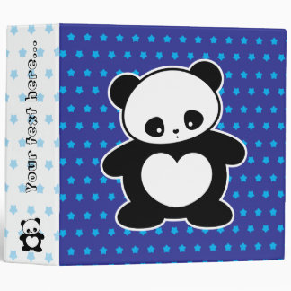 Kawaii panda 3 ring binder