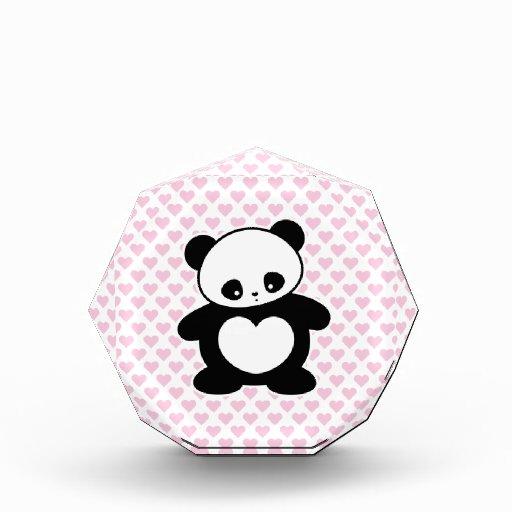 Kawaii panda acrylic award