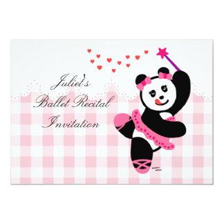 Kawaii Panda Ballet Dancer Recital Card