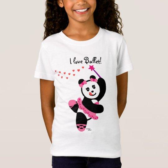 Kawaii Panda Ballet Dancer Recital T-Shirt