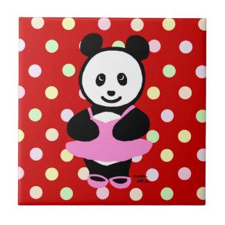 Kawaii Panda Ballet Dancer Ceramic Tiles