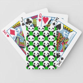 Kawaii Panda Bear Pattern Bicycle Playing Cards