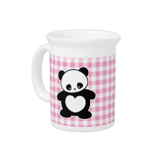 Kawaii panda beverage pitcher