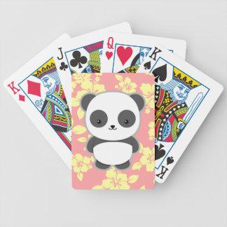 Kawaii Panda Bicycle Playing Cards