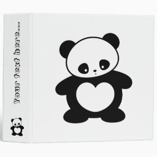 Kawaii panda binder