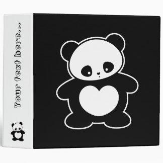 Kawaii panda vinyl binder