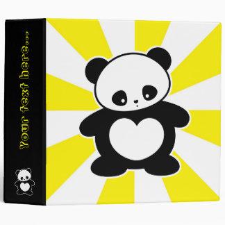 Kawaii panda binders